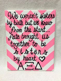 Alpha Xi Delta Chevron Canvas by MegansCanvases on Etsy, $15.00