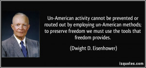 Un-American activity cannot be prevented or routed out by employing un ...