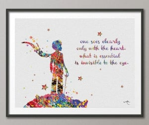 The Little Prince Quote Le Petit Prince inspirational by CocoMilla, $ ...