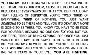 text, fighting, life, quotes, strong, tears, text, tired
