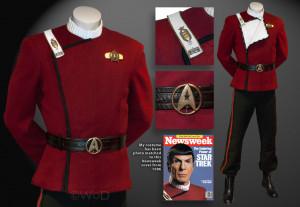 Star Trek Uniform Spock Maroon
