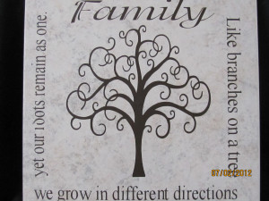 Family Tree Quotes Poems Tan tile with family tree poem