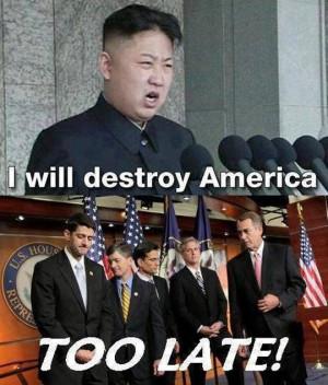 Too late Kim Jong-un…