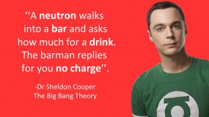 Sheldon Cooper neutron Joke (the big bang theory) by koalafishy