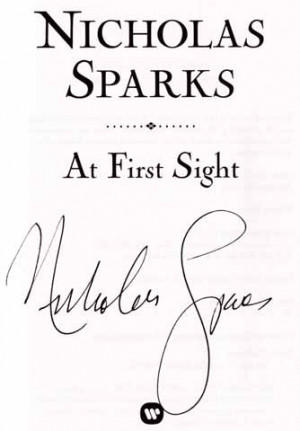 At first sight nicholas sparks essay