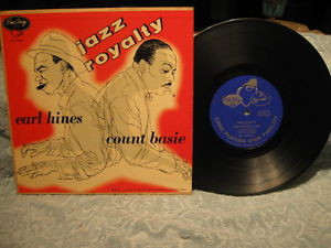 COUNT BASIE EARL HINES Jazz Royalty 10 LP EmArcy 1954