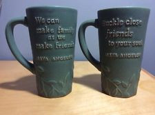 ... Set of 4 Maya Angelou Friend Friendship Cups Mugs Soup Bowls Hallmark