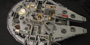 STAR WARS PHOTO - Millennium Falcon And X-Wing - STAR WARS PHOTO