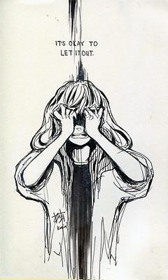 anime, life, pain, quotes, sad, scream, tumblr, kaiami