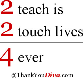 More Sayings to thank your Teacher