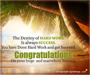 Succes Congratulations