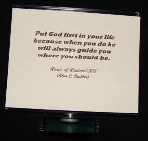 put god first quotes