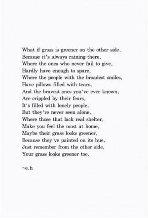 Grass isn't always greener