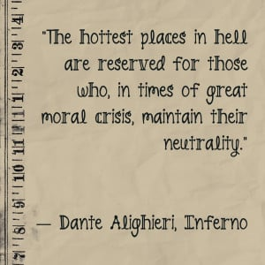 it starts with the following quote from dante s inferno