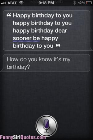 Siri's Birthday