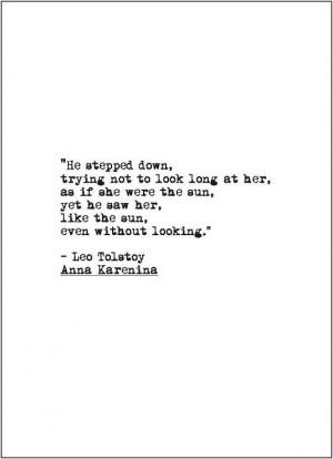 Anna Karenina love quote retro typewriter by JenniferDareDesigns, $7 ...