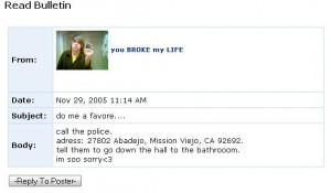 The MySpace Suicide Fad