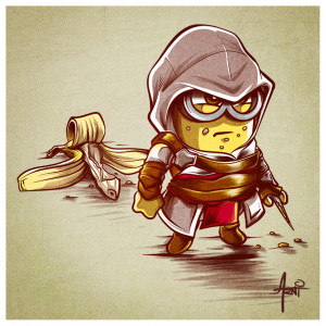 Banana creed… #assassinscreed #ezio #parody