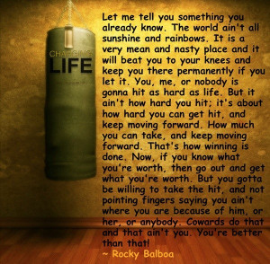 Rocky balboa, quotes, sayings, life, long quote