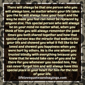 The Special Person In Your Life..