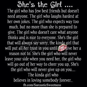 She's the girl...