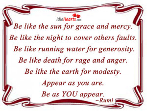 Be Like the Sun for Grace and Mercy ~ Earth Quote
