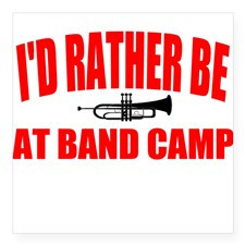 Band Camp Square Sticker for