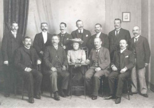 Clara Zetkin with social democrats from Württemberg - 1900