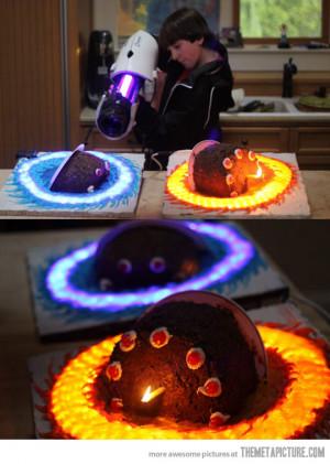 Funny photos funny Portal cake awesome