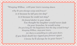 Weeping Willow poem from the movie My Girl.