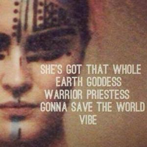 Earth goddess warrior priestess vibe!!!