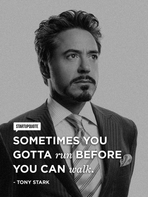 Robert Downey Jr. courtesy of Startup Quote https://www.facebook.com ...