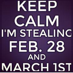 Keep calm!! Leap year babies!