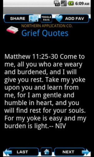 View bigger - Bible Quotes for Grief for Android screenshot