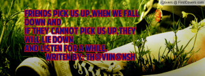 friends pick us up,when we fall down and if they cannot pick us up ...