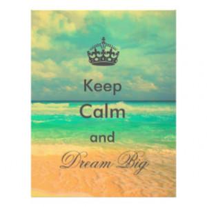 "vintage beach ""Keep Calm and Dream Big"" quote Custom Flyer"