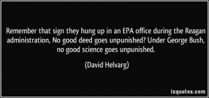 hung up in an EPA office during the Reagan administration, No good ...