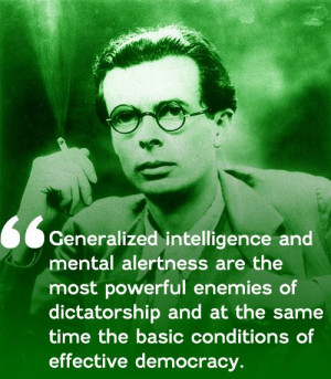Aldous Huxley on drugs and democracy