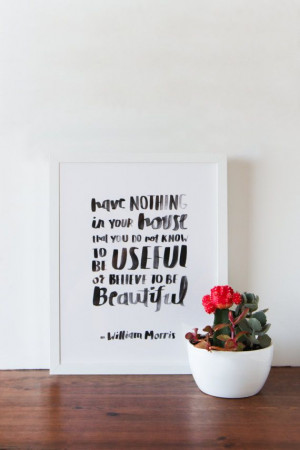 ... bit more each day.) :: William Morris Quote Print by APairOfPears