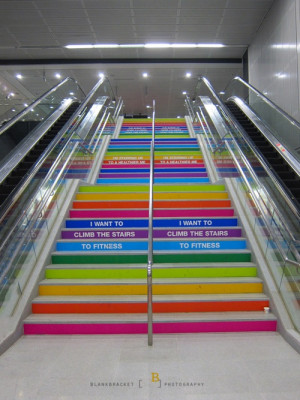 Stairs in Singapore (I want to climb the stairs to fitness.)