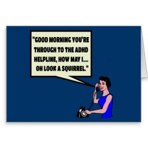 Funny ADHD Greeting Card