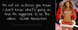 Gisele Bundchen Quote on pushing your limits