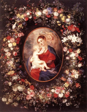 Peter Paul Rubens (1577-1640) –– Madonna and Child with Garland of ...