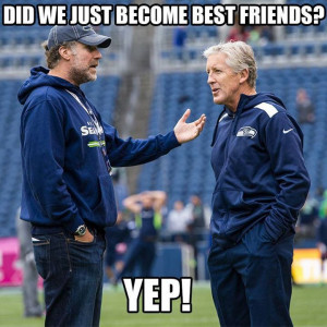 Seahawks Pete Carroll and 12th Man Will Ferrell