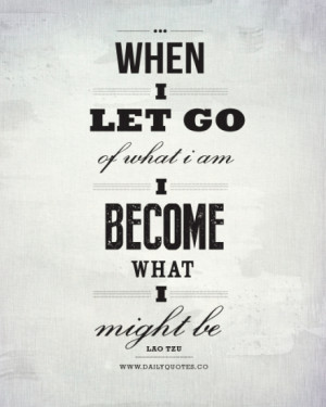 Let Go – Daily Inspirational Quote