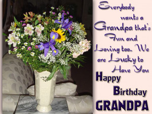 Happy Birthday Grandpa Quotes Happy birthday loving grandpa