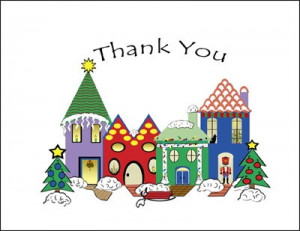 Village Christmas Thank You Cards areBecoming Very Popular!