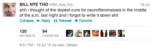 Re: BILL NYE THO