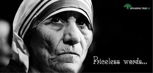 Mother Teresa was a compelling symbol of peace, serenity and kindness ...