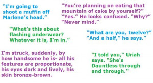 Divergent quotessss (the purple one on top)